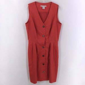 The Limited Sleeveless Coral Dress  sz: 6